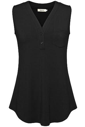 a3472d6cb7522 BEPEI Womens Sleeveless Tops Basic Shirts Summer Casual Tanks V Neck ...