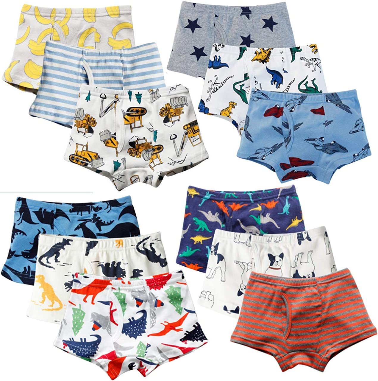 XNN Soft Cotton Baby Toddler Underwear Little Boys Girls Assorted Briefs Pack of 4