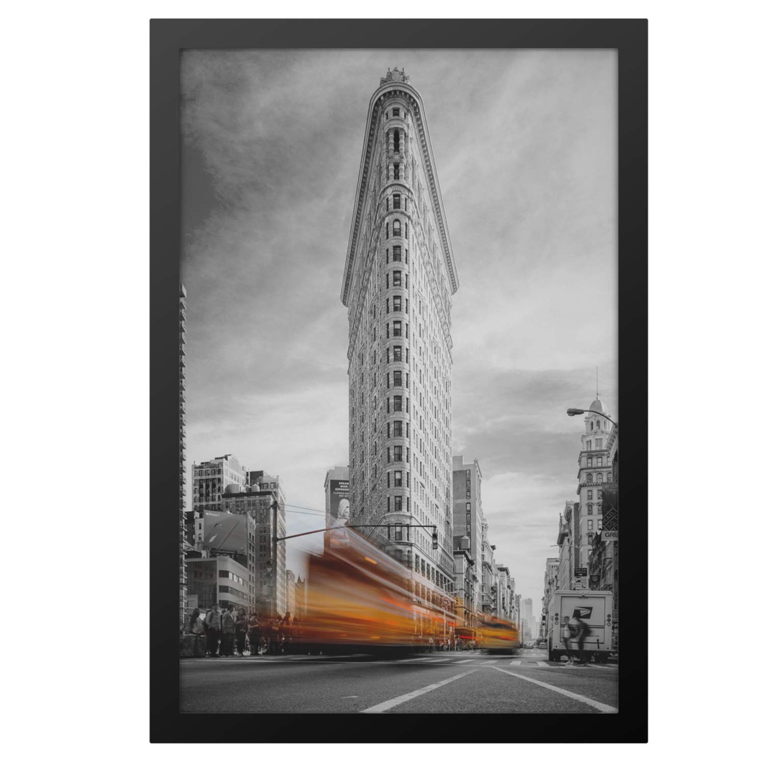 ONE WALL Tempered Glass 13x19 Poster Frame, Black Wood Photo Picture Frame for Wall Vertically or Horizontally Display - Mounting Hardware Included by ONE WALL