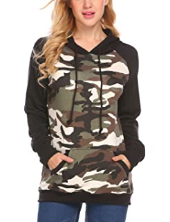 Ancapelion Women/'s Casual Hoodie Pullover V Neck Color Block Hooded Sweatshirts Long Sleeve Pullover Tops with Pocket