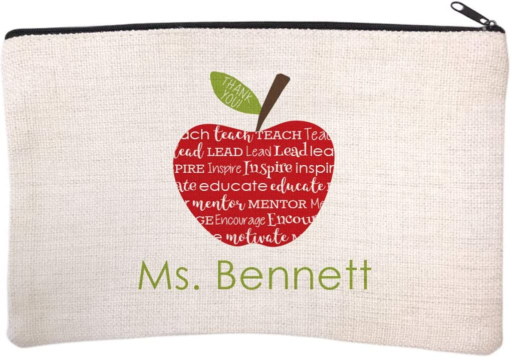 Personalized Teacher Name Cosmetic and Makeup Bag