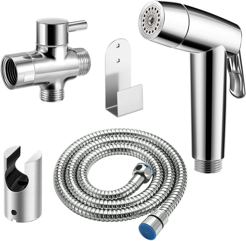 ShangSky Bidet Handbrause Kit,Hand gehalten Bidet Sprayer,4 modus Edelstahl Duschkopf Bidet f/ür Hinten Waschen,Auto Waschen,WC Reinigung