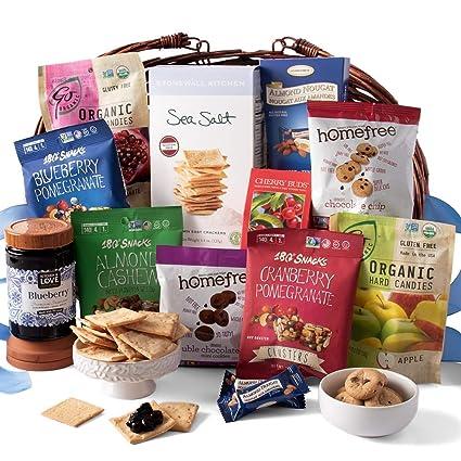 Cesta clásica de regalo con productos sin gluten: Amazon.com ...