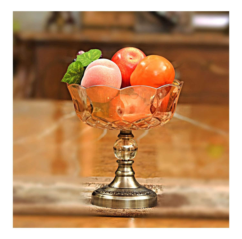 フルーツバスケット- クリスタルガラスフルーツボウルヨーロッパのリビングルームクリエイティブ人格装飾モデルルーム工芸品装飾ホテルフルーツプレート WPQW   B07RTNQH6H