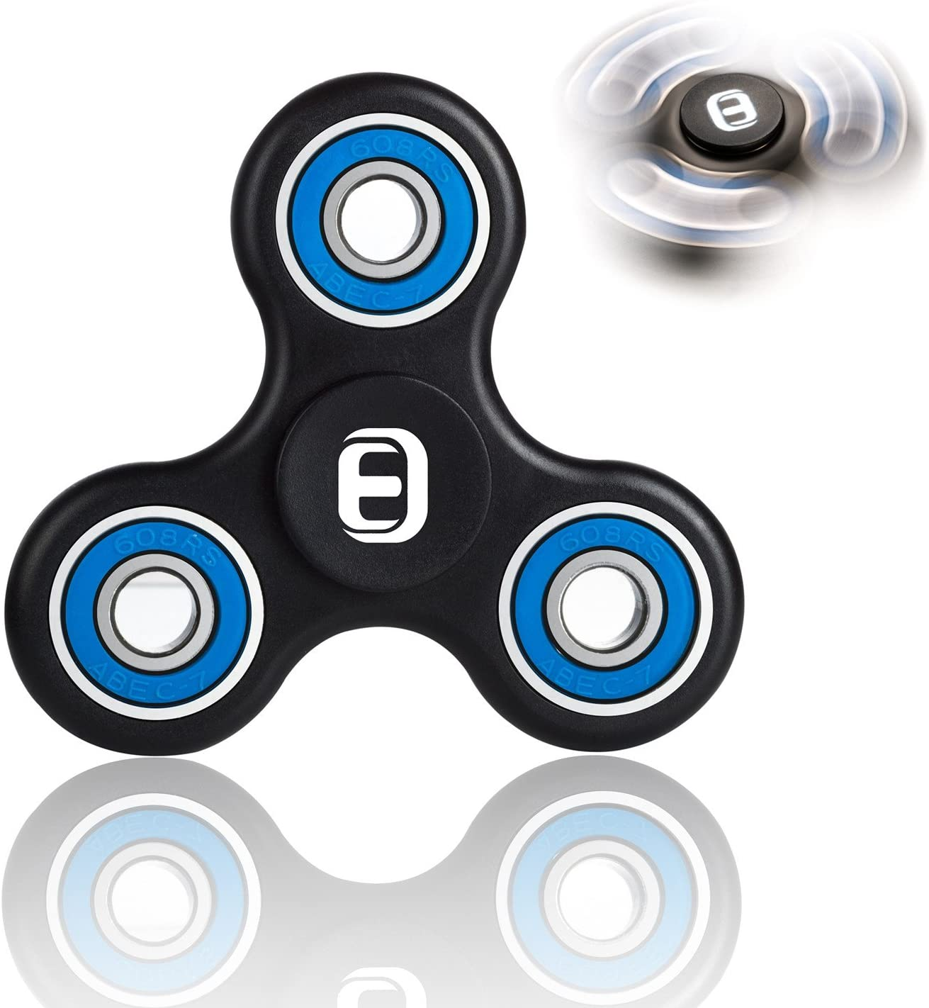 ADHD Relieves Stress Autism And Anxiety And Relax for Children and Adults Oriental eLife Fidget Spinner Stress Relievers for ADD Tri-Spinner EDC Focus Toy Hand spinner ABS, Black /& Blue