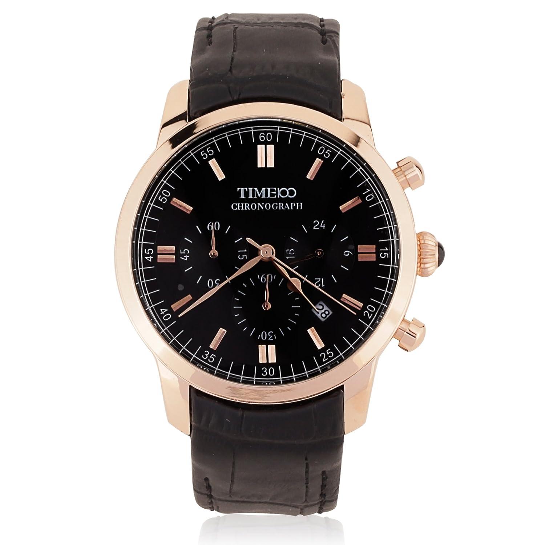Time100 Reloj Cuarzo de Hombre de Negocio clásico con Tres esferas pequeñas para Hombre con multifunciones