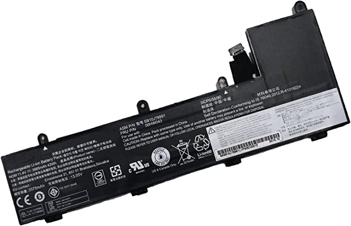 Dentsing SB10J78991 11.4V 3685mAh 00HW043 Battery for Lenovo ThinkPad Yoga 11e 3rd Gen 20G8-S03400 20GA Series Laptop 00HW042 00HW044 SB10J78992