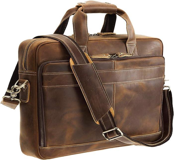 The Best Italian Leather Messenger Laptop Bag