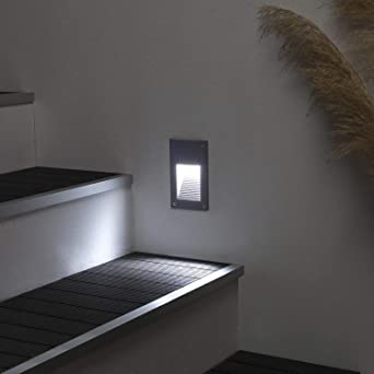 LEDKIA LIGHTING Baliza LED Cooper Acabado Gris 3W Blanco Cálido 3000K: Amazon.es: Iluminación
