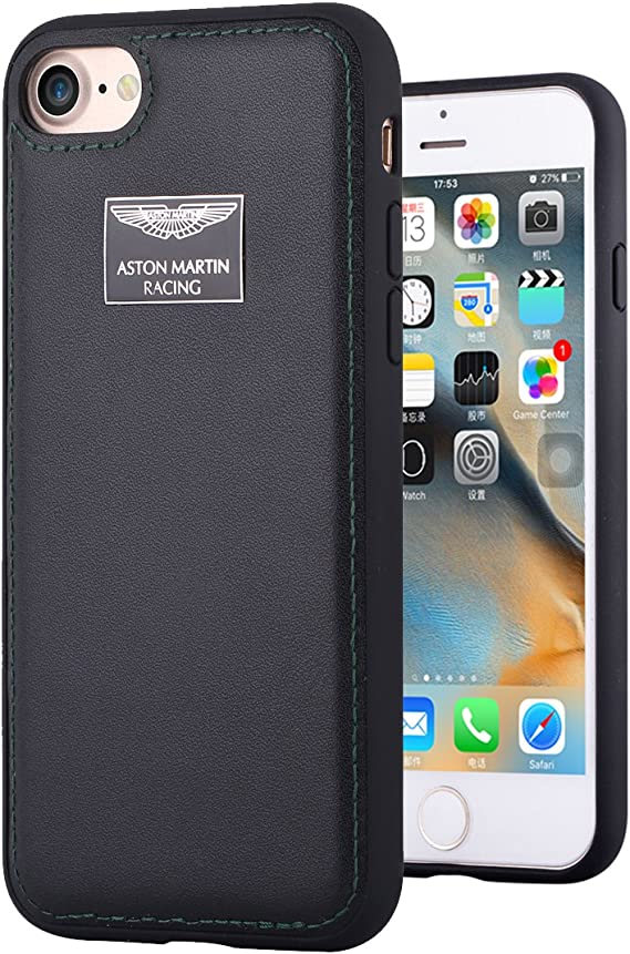 Amazon Com Iphone 7 Case Aston Martin Racing Strap Series Genuine Leather Back Case For Iphone 7 Black