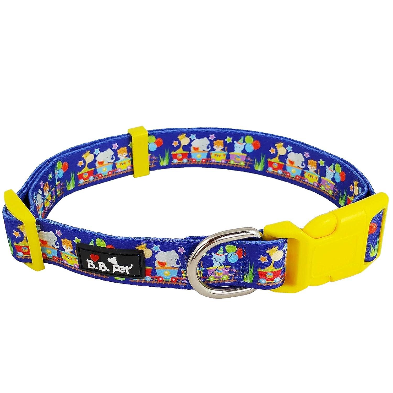 18\ Bestbuddy Pet Happy Animals Admiral Durable Nylon Designer Fashion Dog Collar Trendy Comfortable Adjustable Dog Collar with Buckle BBP029