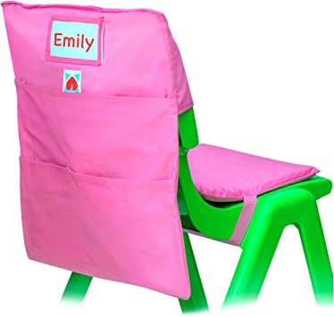 """SET OF 5 SMALL Chair Pockets ~Seat Sack *Washable *FITS 11/"""" WIDE Chairs"""