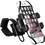 Fahrradhandyhalterung VTIN 360 Grad drehbare Universal Fahrrad Motorrad Halter Handyhalter mit Kautschuk-Armband für iPhone7/7Plus SE 5S 5C S7 S6 S5 Galaxy GPS,Bike Navigation und andere Geräte bis zu 6 Zoll
