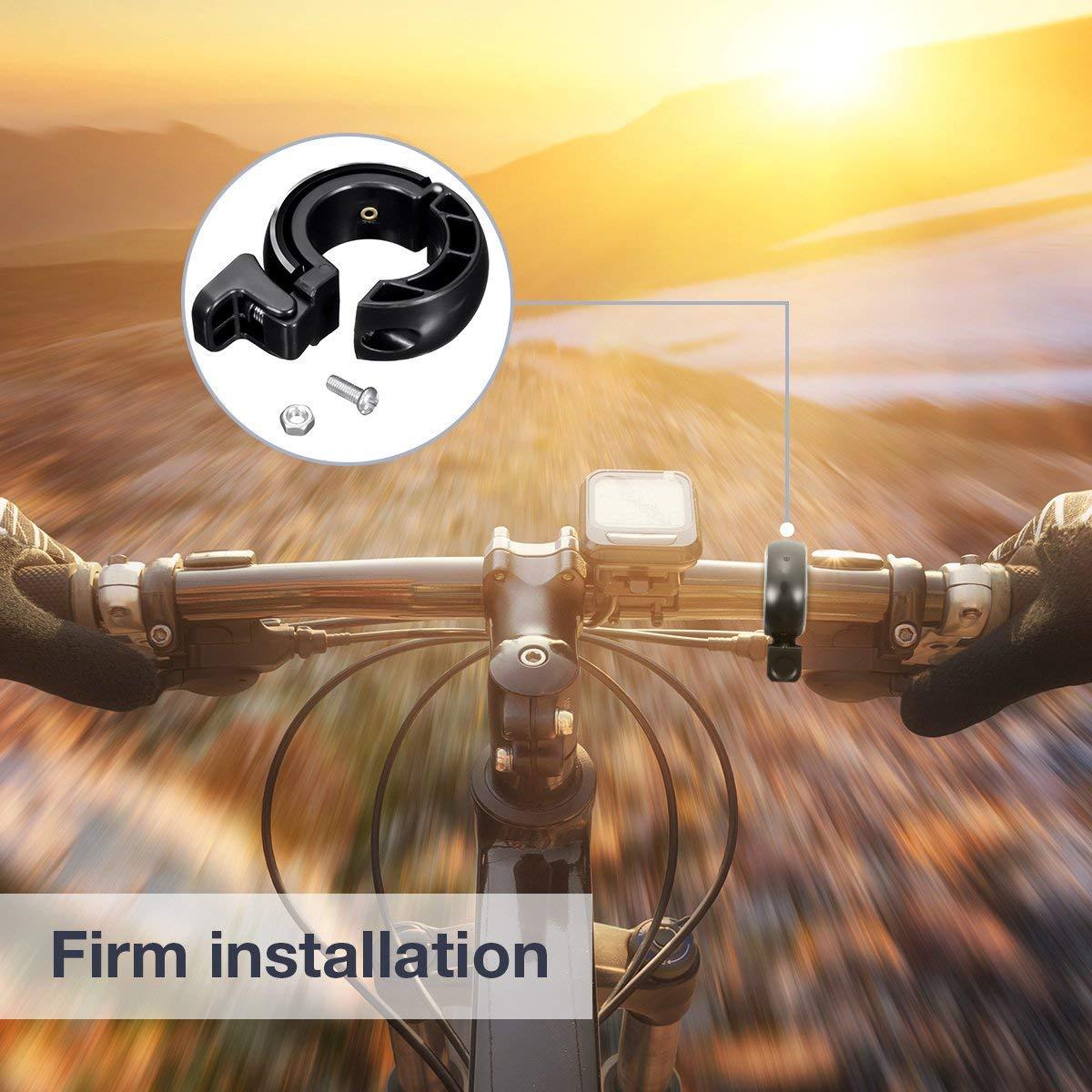Mini Aluminiumlegierung Innovative Fahrrad Ring Q Bell Radfahren Fahrrad Klingel Glocke MTB Mountainbike Alarm Horn Ring f/ür 22.2-24mm Lenker SGODDE Fahrradklingel,O Design Fahrradglocke Laut