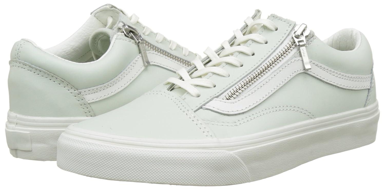 Vans Old Skool Zip Womens Sneakers Green B01I2AY46U 6 M M US Women / 4.5 M M US Men|Zephyr Blue/Blanc De Blanc 01f5b8