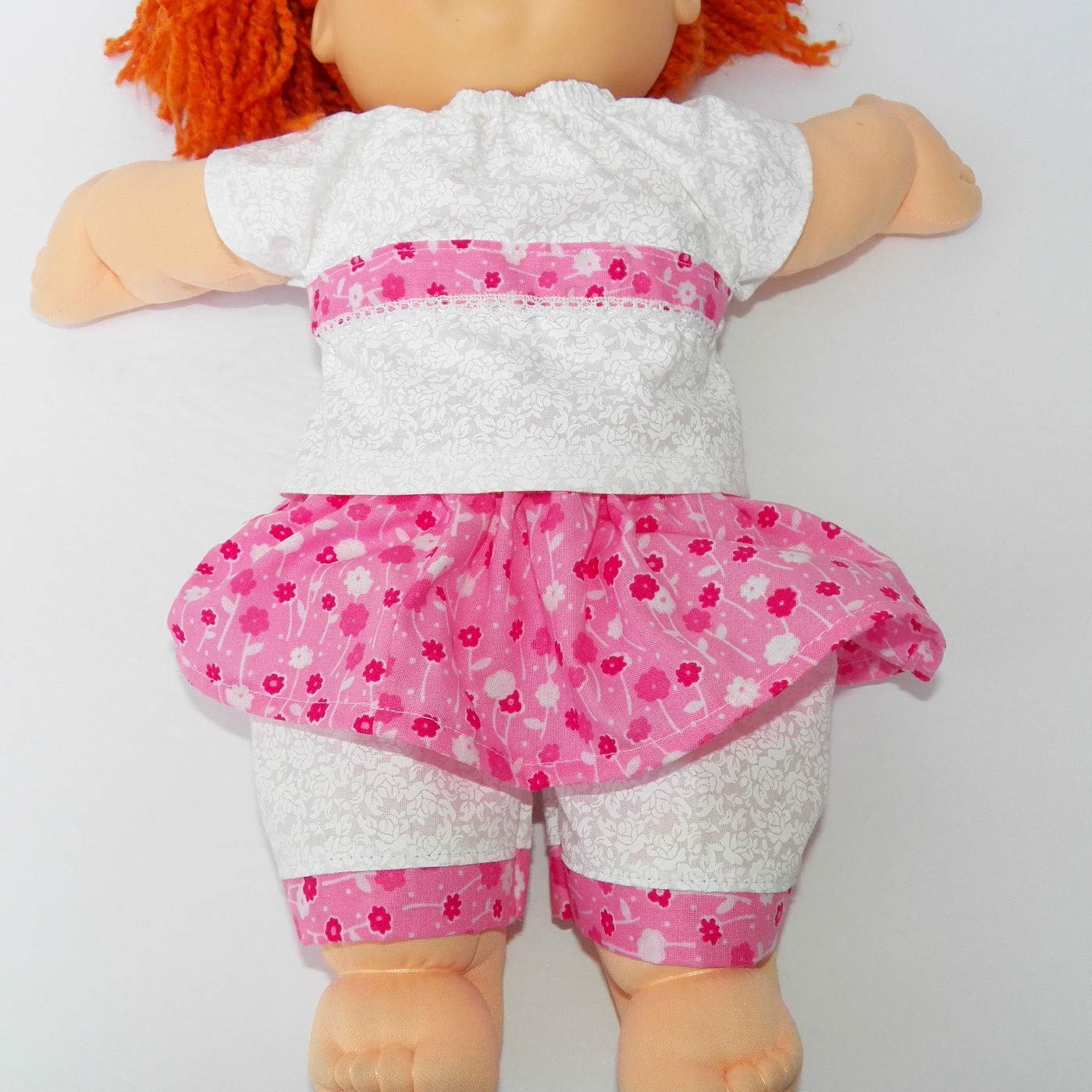 Cabbage Patch Doll Clothes Fits 16 Inch Girl Includes Blouse Skirt Pants White Pink No Doll