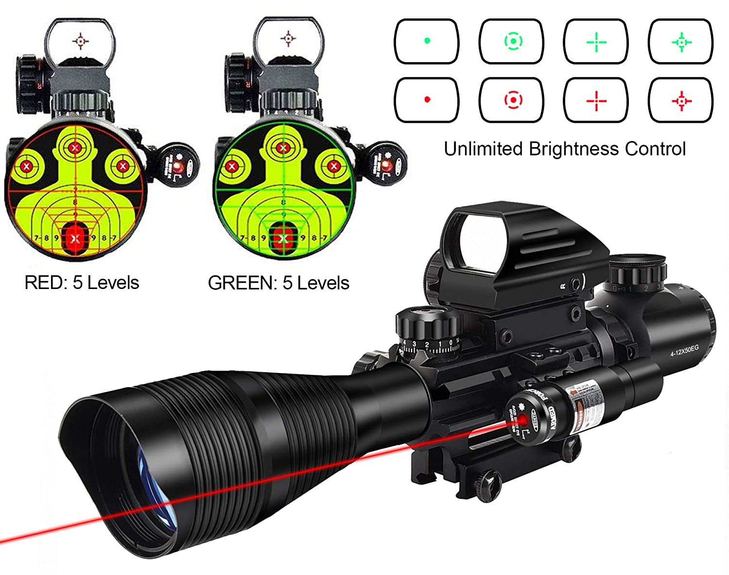 8.MidTen 4-12x50 Dual Illuminated Scope