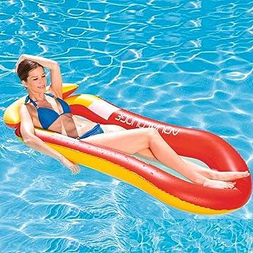 Comfort - Tumbona hinchable para piscina, reclinable y con ...