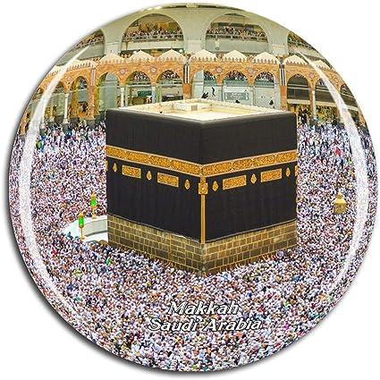 Amazon Com Weekino Grand Mosque Makkah Saudi Arabia Fridge Magnet 3d Crystal Glass Tourist City Travel Souvenir Collection Gift Strong Refrigerator Sticker Kitchen Dining