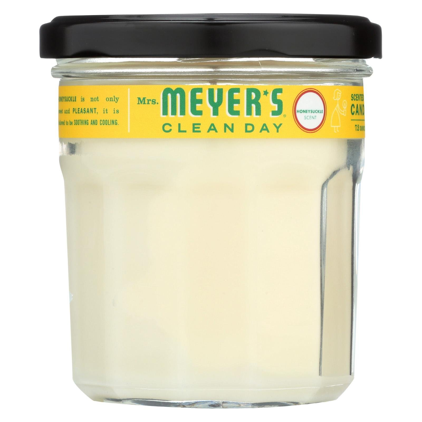 MRS.MEYERS CLEAN DAY, Soy Candle, Honeysuckle, Pack of 6, Size 7.2 OZ
