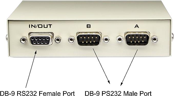 Cerrxian 2 Wege Schalter Db9 Polig Seriell Rs232 Computer Zubehör