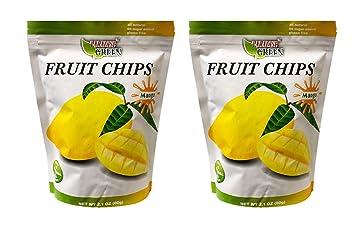 Paradise Green No Sugar, Non GMO Natural Fruit Chips 2 Pack (Mango)