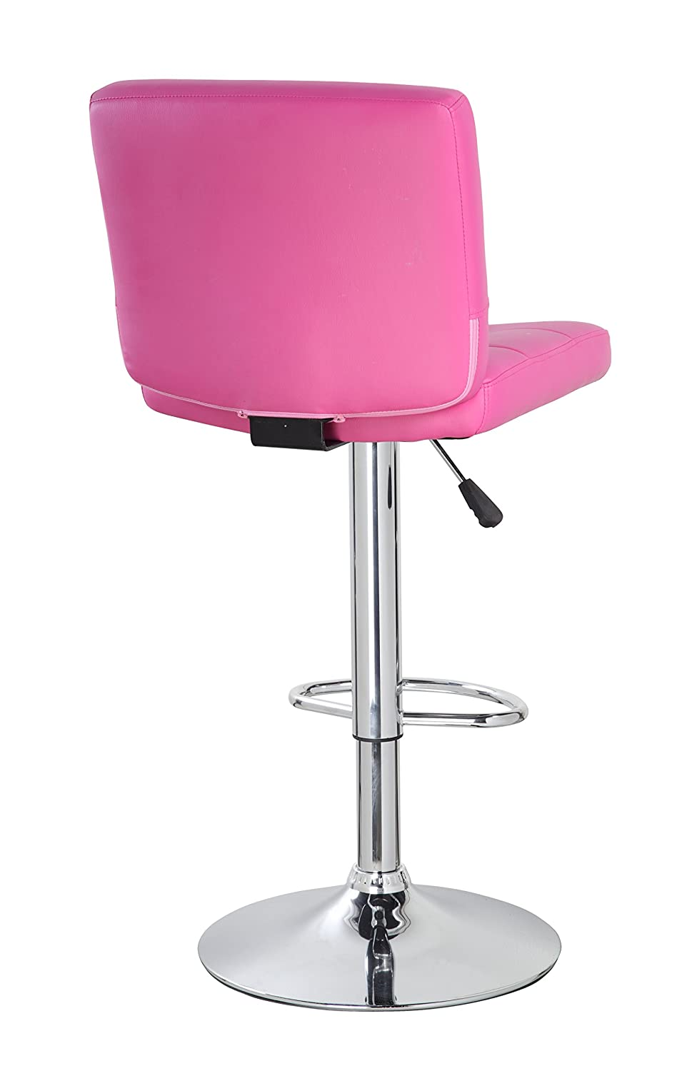 Amazon com anji modern furniture swivel adjustable height bar stool with back bar chair pink kitchen dining