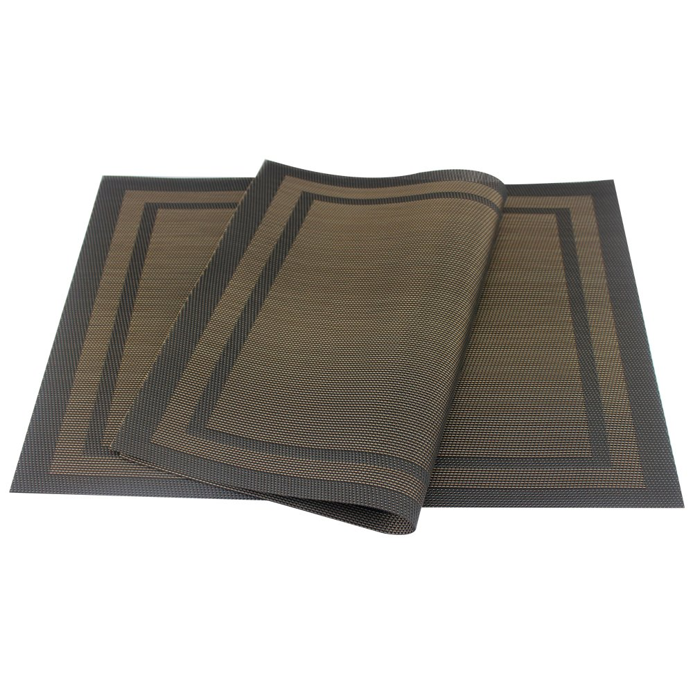Amazon: Placemats, Heatresistant Placemats Pvc Placemats Woven Vinyl  Placemats Stain Resistant Antiskid Nonslip Table Mats, Set Of 4: Kitchen  &