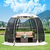 Leedor Gazebos for Patios Screen House Room 4-6 Person Canopy Mosquito Net Camping Tent Dining Pop Up Sun Shade Shelter…