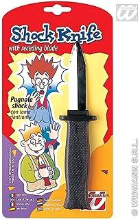 Cuchillo con cuchilla retráctil - daga de plástico: Amazon ...