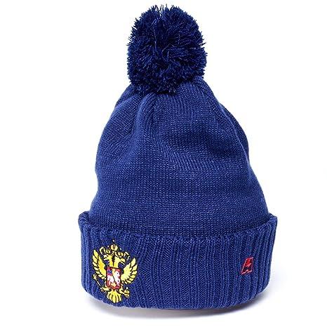 4ca162489ae8a Amazon.com   Russia cuffed knit beanie hat with pom