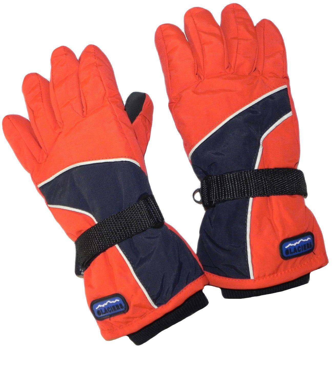 EveryHead Jungenhandschuhe Thermohandschuhe Handschuhe Fingerhandschuhe Winterhandschuhe zweifarbig mit Teflon Beschichtung für Kinder (PT-5510-W16-JU1) inkl Hutfibel