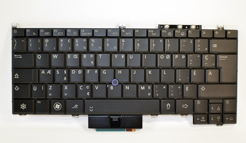 New Genuine OEM Dell Latitude E4300 Laptop FRENCH CANADIAN NSK-DG127 Keypad Dual Point 84 Key Back Lit Keyboard KR741 NSK-DG127 Clavier Francais