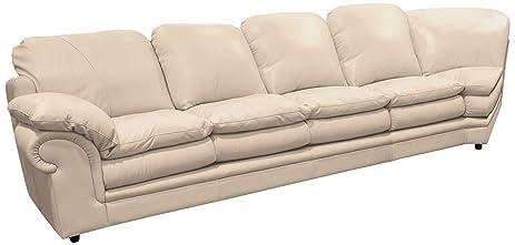Good Omnia Leather Santa Barbara Left Arm 4 Cushion Sofa With Half Curve In  Leather, Standard