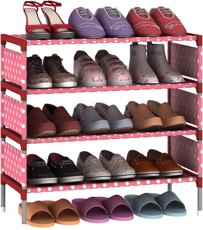 Cherry Shoe Rack Storage Organizer Standing Shelf Tower Saving Closet Space New