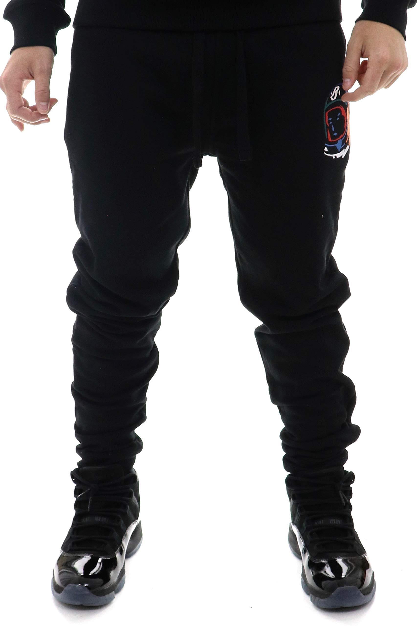 Billionaire Boys Club BB Multi Sweatpant in Heather Grey & Black 891-2108 (Black, Small)