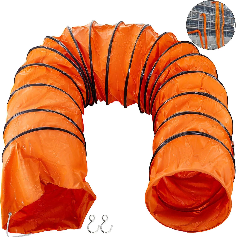 Mophorn Tuyaux en PVC Tuyau Flexible PVC 16pi 24po pour Ventilateur dExtraction