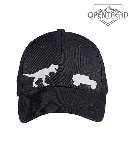 0ecfe8efe4e96 T-Rex Chasing Jeep Wrangler Hat- Jeep Hat - Black at Amazon Men s ...