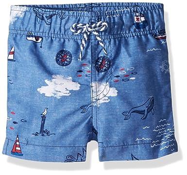 547eaabb17 Amazon.com: Mud Pie Baby Boys Nautical Swim Trunks: Clothing