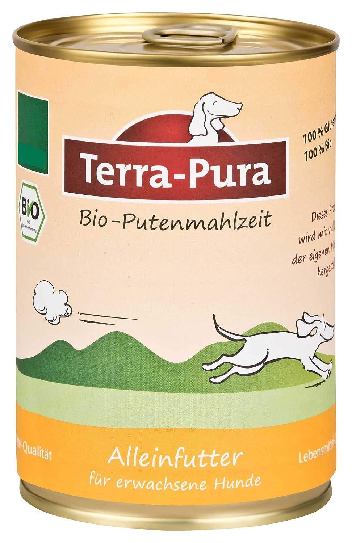 12er Pack (12 x 400 g) Terra Pura organic dog food turkey meal, gluten-free