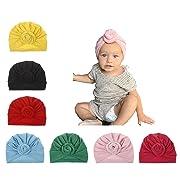 Newborn Hats Baby Girl Headband Hospital Infants Hat Nursery Head Wrap Black Turban