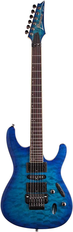 Ibanez S670QM S Series Electric Guitar Sapphire Blue