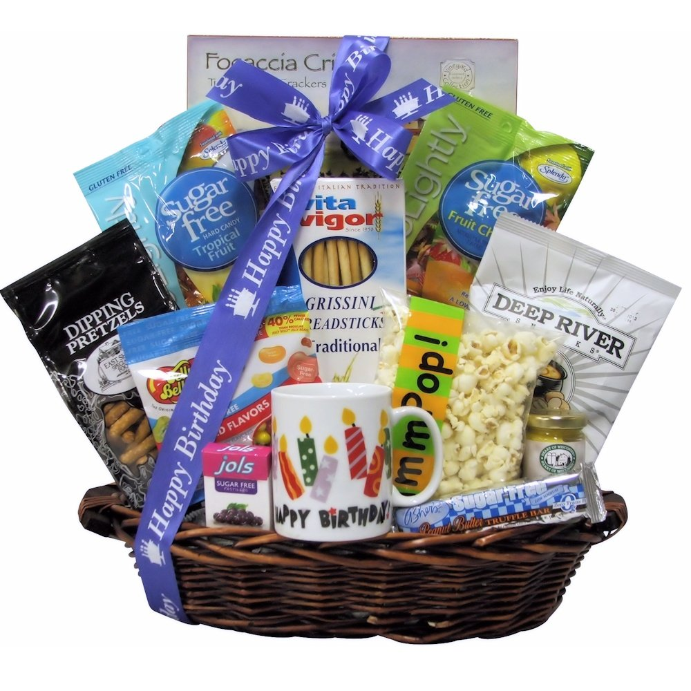 Great Arrivals Gourmet Birthday Gift Basket, Sugar Free Birthday Celebration