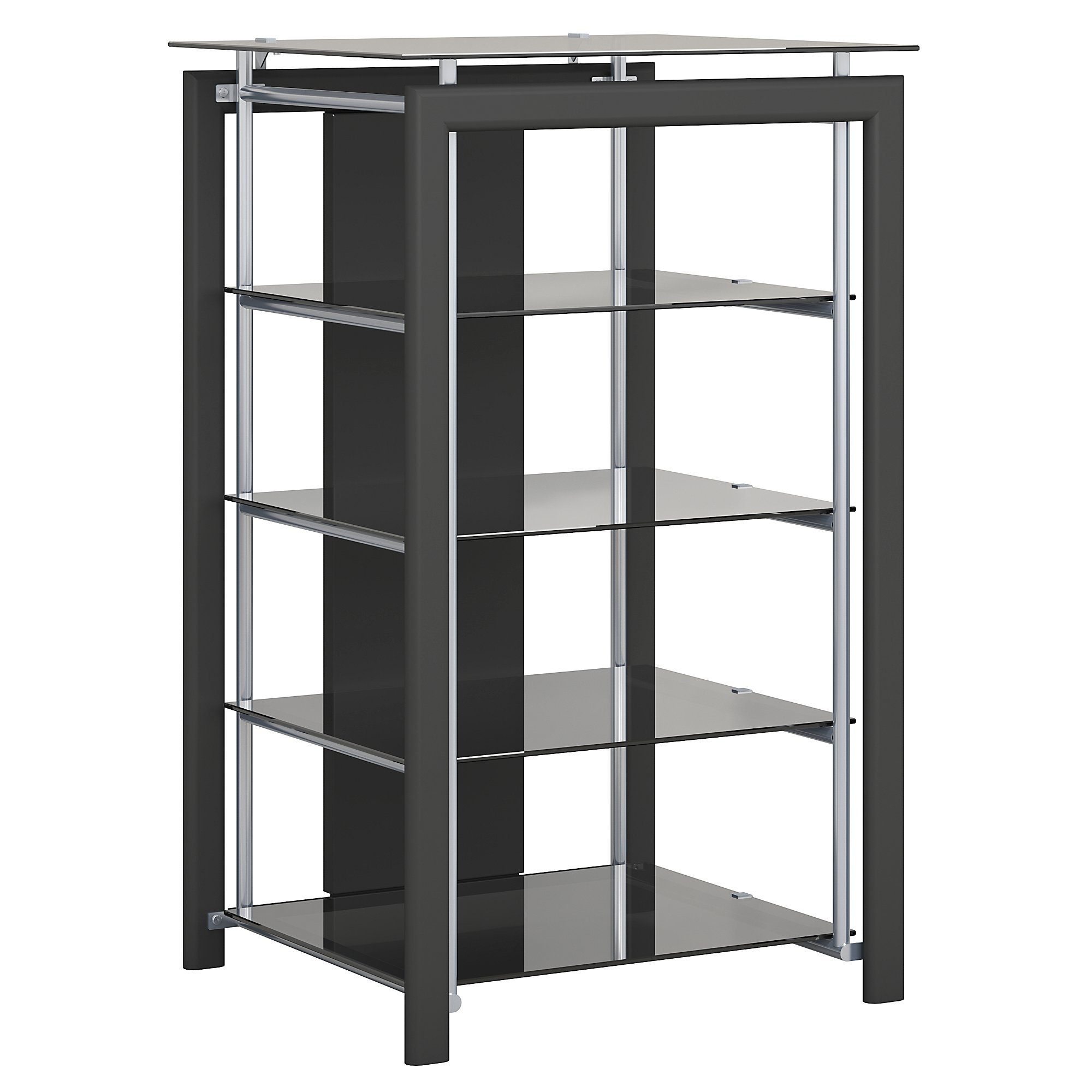 Midnight Mist Media Stand in Black by Bush Furniture