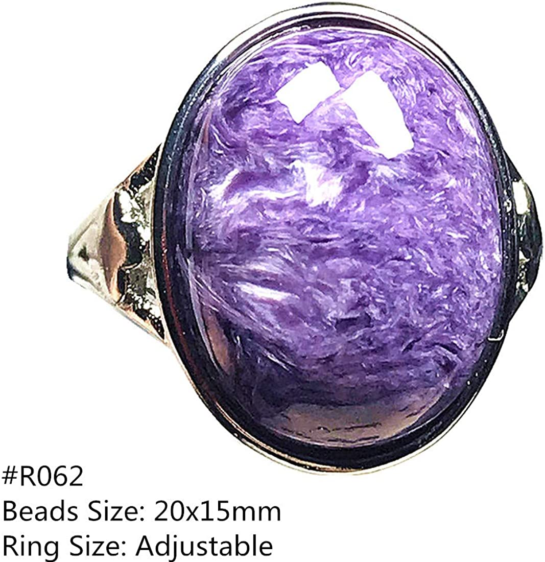 Fresh Arrivals Desinger Band Ring Purple Color Stone Pear Gemstone Gift Charoite Ring New Year Gift 925 Sterling Silver Gift For Her