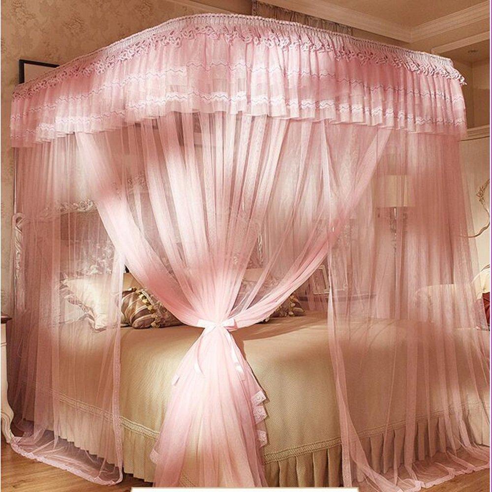 Moskitonetze MEIDUO Slideway Mosquito Net Princess Wind U Typ Double Home Haushalt Mosquito Netze (1,2m/1,5m/1,8m/2m)