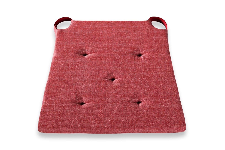 03879310103 Set di cuscini da seduta con lacci di fissaggio 42 / 35 x 40 x 4 cm Badenia