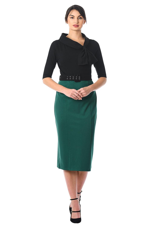 1950s Housewife Dress | 50s Day Dresses Knit Sheath Dress $64.95 AT vintagedancer.com