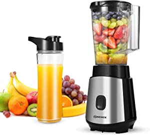 HEIHOX Personal Blender for Shakes, Smoothies, Food Prep and Frozen Blending, with BPA Free 32 Oz. Jar and 19 Oz To-go Cups, Countertop Smoothies Blenders for Kitchen, Black