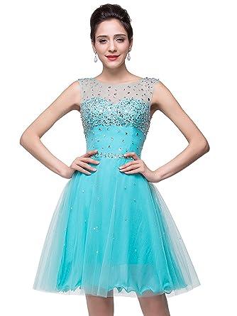 Babyonline Crystal Elegant Evening Dreses for Women Formal Occasion,Blue,2